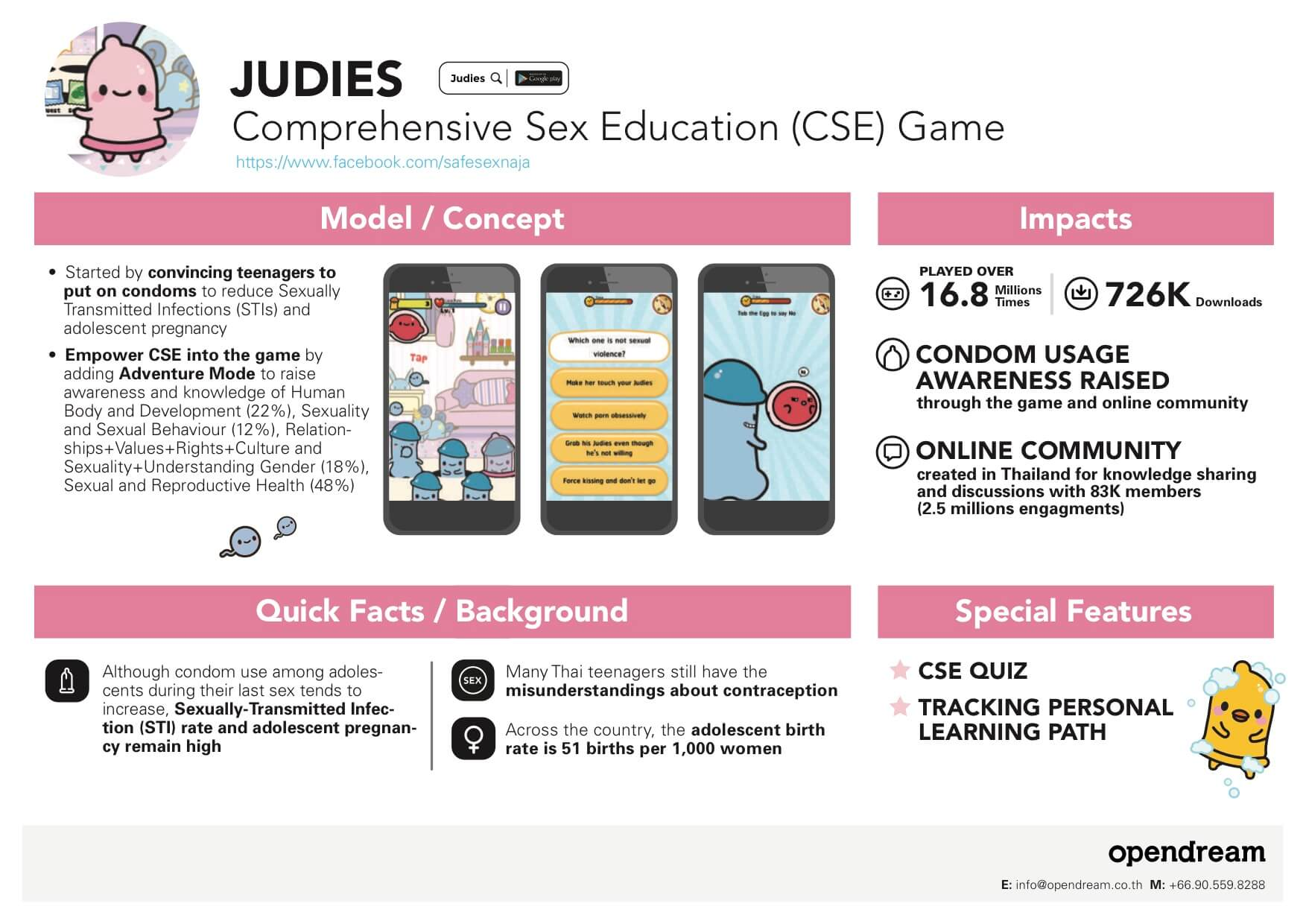 Judies Factsheet