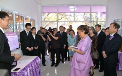 "Opendream demonstrated smart phone application ""DV Consult"" to Her Royal Highness Princess Maha Chakri Sirindhorn"